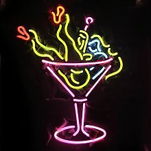 COCKTAIL cup Real Glass Neon Light Sign Home Beer
