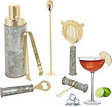 Cocktail Shaker Set - Silver & Gold Barware Bar