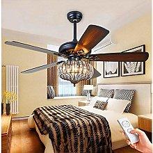 COCNI Vintage LED Dining Table Ceiling Fan Light