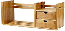 Cocoarm Bamboo Wood Extendable Desk Tabletop Book