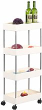 Cocoarm Kitchen Trolley With 4 Levels Tiers,