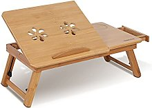 Cocoarm Laptop Stand Table Bamboo Laptop Desk