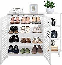 Cocoarm Shoe Rack Wooden 4 Tiers Floor Standing