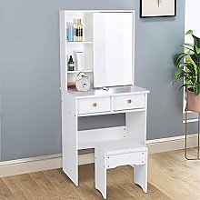 Cocoarm White Dressing Table, Makeup Dresser Set