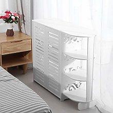 Cocoarm Wooden Shoe Cabinet, 4 Tier Shoe Dresser