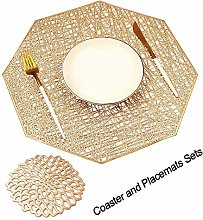 COCOHOME Placemats and Coaster Sets, PVC