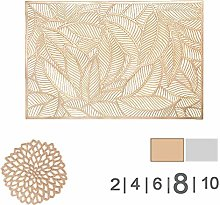 COCOHOME Placemats and Coaster Sets, PVC Non-Slip
