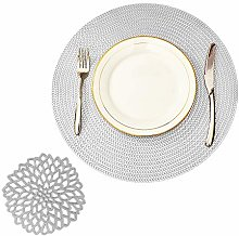 COCOHOME Placemats and Coaster Sets, Round PVC