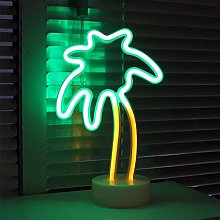 Coconut Palm Tree LED Neon Signs Light with Holder