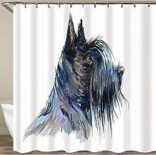 COFEIYISI Shower Curtain,Black Scottish Terrier