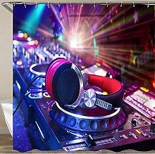 COFEIYISI Shower Curtain,Dj mixer with headphones
