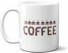 Coffee Beans Word 15oz Ceramic Mug