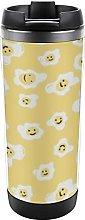 Coffee Cup Cartoon Poached Egg Thermos Mug