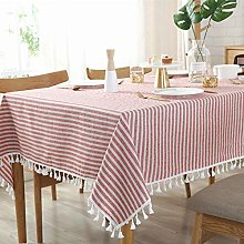 Coffee Design Non-Iron Tablecloth Pink Tablecloth