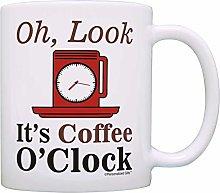 Coffee Lover Gift Look It's Coffee O'Clock