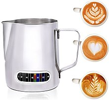 Coffee Milk Frothing Pitcher with Built-in