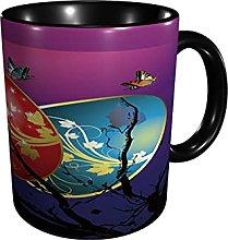 Coffee Mug Colorful Egg Butterfly Dusk Tea Cup