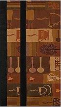 Coffee Pattern with Cups Refrigerator Door Handle