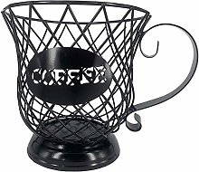 Coffee Pod Storage Basket Black Metal