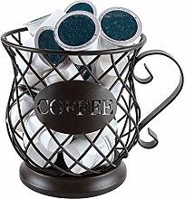 Perfect Coffee Accessories Large Capacit TIEMORE Coffee Capsule Basket Coffee Capsule Pod Storage Basket Coffee Capsule Holder Design Original Black Coffee Pod Organizer
