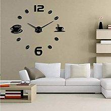 Coffee shop DIY large wall clock frameless giant