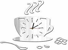 Coffee Shop Fashion Art Coffee DIY Wall Clock Cafe