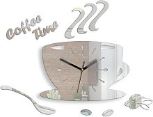 Coffee Silent Wall Clock Happy Larry