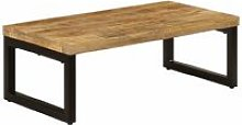 Coffee Table 110x50x35 cm Solid Mango Wood and