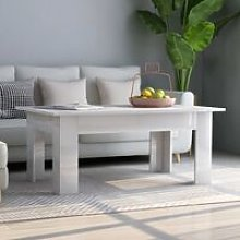 Coffee Table High Gloss White 100x60x42 cm