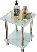 Coffee Table Small Tempered Glass Table Nightstand