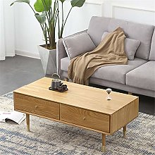 Coffee Table Wood Coffee Table With 2 Drawers