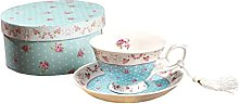 Coffee Tea cups and Saucers set of 2 Vintage Flora
