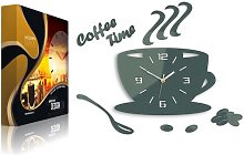 Coffee Time 3D Wall Clock Happy Larry Colour: