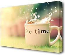 Coffee Time  Kitchen Canvas Print Wall Art East
