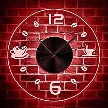 Coffee Vintage Design Illuminated Wall Clock