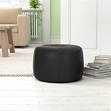 Cogbill Leather Pouffe Borough Wharf Upholstery