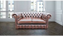 Cohasset Genuine Leather 2 Seater Chesterfield