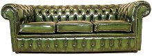 Cohasset Genuine Leather 3 Seater Chesterfield
