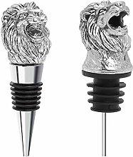 Coitak Lion Head Wine Pourer Spout, Wine Bottle