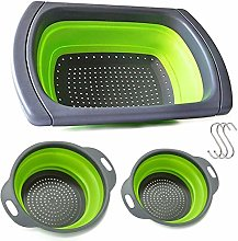 Colander,3 Sizes Collapsible Colander Set,with 3
