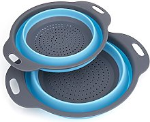 Colander Food Strainers, Diealles 2PCS Collapsible