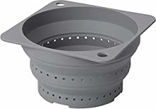 Colander Silicone Dishwasher-Safe Can Be Used As a