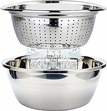 Colander Stainless Steel Colander with Bowl Food