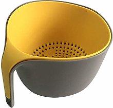 Colander with Bowl Plastic Strainer Bowl Set