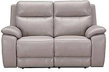 Colby Real Leather/Faux Leather 2 Seater Power