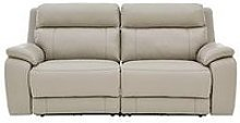 Colby Real Leather/Faux Leather 3 Seater Power