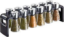 Cole and Mason 12 Jar Shaw Filled Herb and Spice