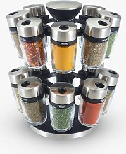 Cole & Mason 16 Jar Filled Spice Rack Carousel
