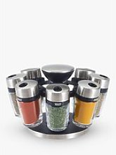 Cole & Mason 8 Jar Filled Spice Rack Carousel