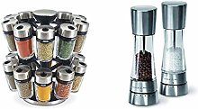 Cole & Mason Premium 20 Jar Filled Herb and Spice